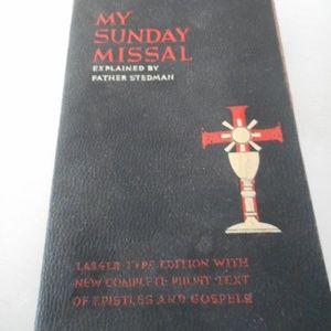 1942 My Sunday Missal Explained plus more